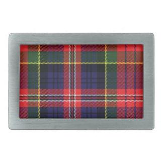 Macpherson Scottish Tartan Belt Buckle