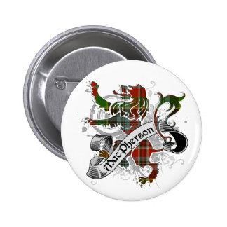 MacPherson Tartan Lion Button