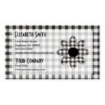 Macpherson Tartan Plaid Daisy Business Card