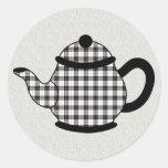 Macpherson Tartan Plaid Teapot Stickers