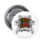 MacPherson Tartan Shield 2 Inch Round Button