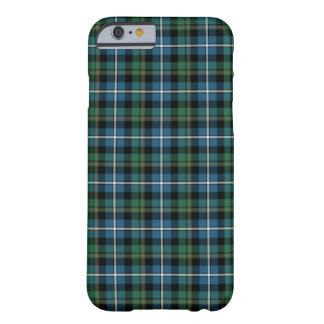 MacRae Clan Bright Blue and Green Hunting Tartan Barely There iPhone 6 Case