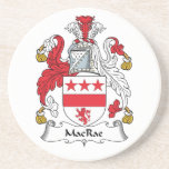 MacRae Family Crest Drink Coaster