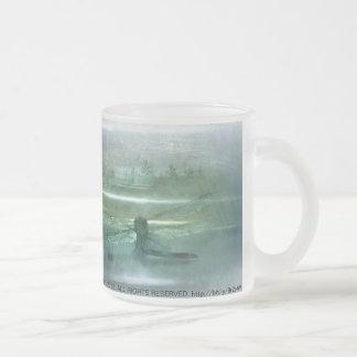 Macro 3 de la libélula taza cristal mate