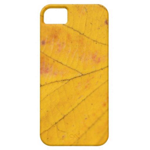 Macro amarilla de la hoja funda para iPhone SE/5/5s