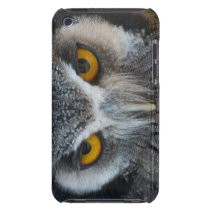 Macro Black and White Owl  iPod Touch Case