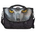 Macro Black and White Scops Owl Commuter Bag