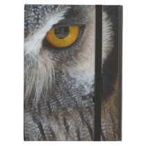 Macro Black and White Scops Owl Cover For iPad Air