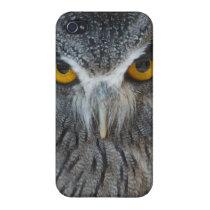 Macro Black and White Scops Owl iPhone 4/4S Case