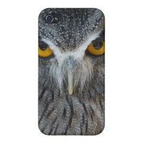 Macro Black and White Scops Owl iPhone 4/4S Cover