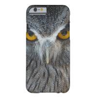 Macro Black and White Scops Owl iPhone 6 Case