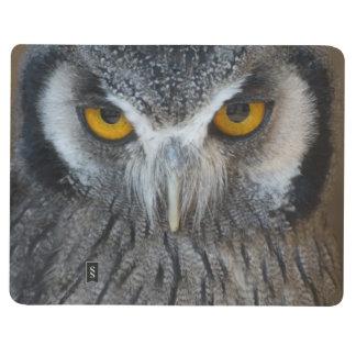 Macro Black and White Scops Owl Journal