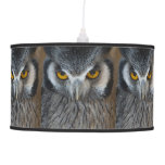 Macro Black and White Scops Owl Lamp