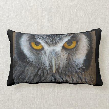 Macro Black and White Scops Owl Pillows