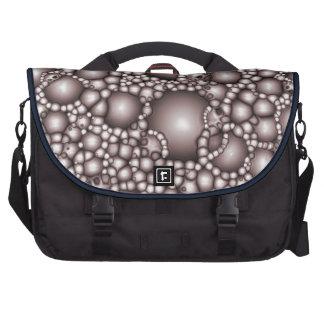 Macro Bubbles Abstract Laptop Messenger Bag