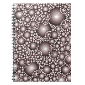 Macro Bubbles Abstract Spiral Note Book