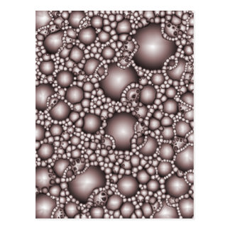 Macro Bubbles Abstract Postcard
