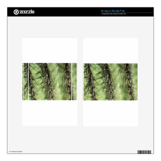 macro close up of cactus thorns kindle fire decal