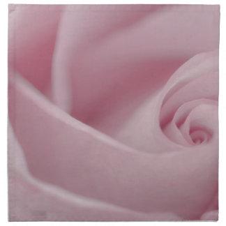 Macro color de rosa rosada servilletas de papel