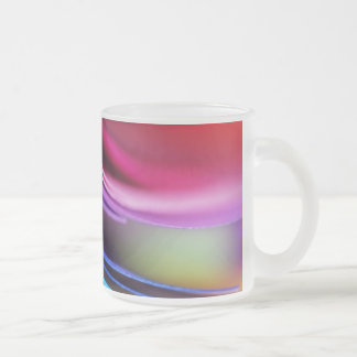 Macro Colorful Paper Photo Rainbow Frosted Glass Coffee Mug