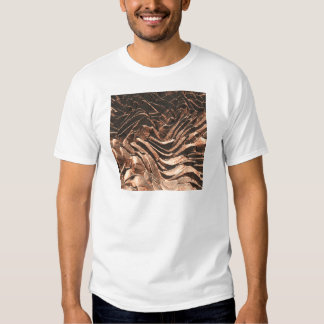 Macro Copper Abstract T Shirt