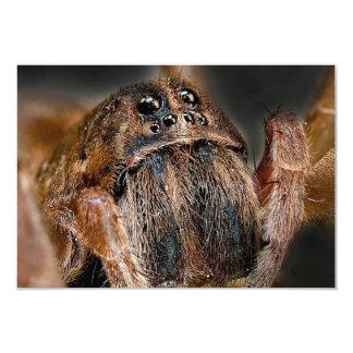 Macro de la araña invitación personalizada