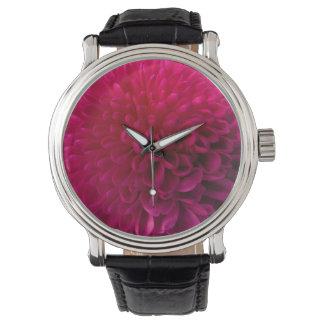 Macro de la flor de las rosas fuertes relojes de mano
