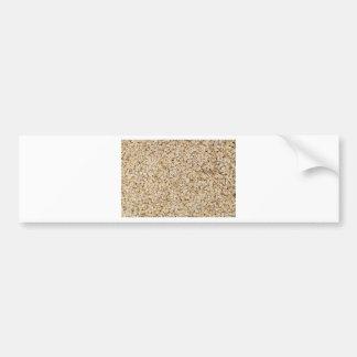 Macro de la harina de avena como estructura del pegatina para auto