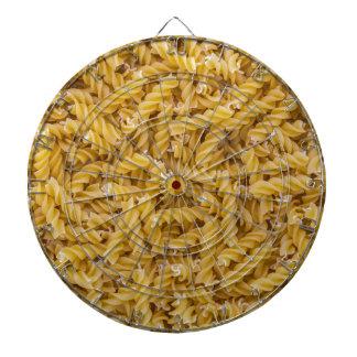 Macro de las pastas de Fusilli como estructura del