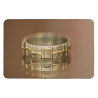 Macro del anillo de bodas imanes de vinilo
