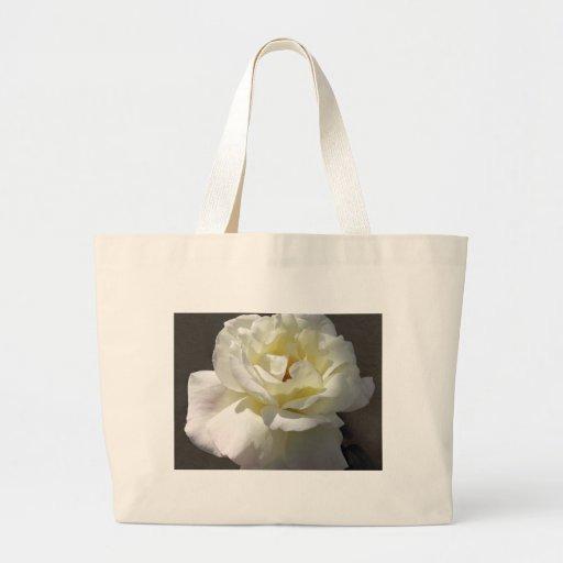 Macro del rosa blanco 2 bolsas lienzo