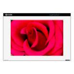 Macro del rosa rojo calcomanía para 38,1cm portátil