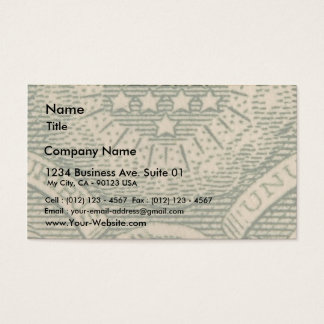 Macro Dollars Bills Money Business Card