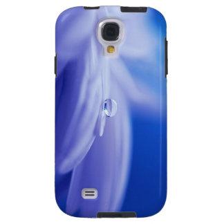 Macro Drop of Water on Blue Flower Photo Galaxy S4 Case