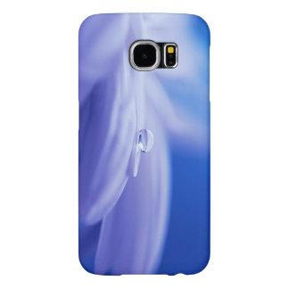 Macro Drop of Water on Blue Flower Photo Samsung Galaxy S6 Case