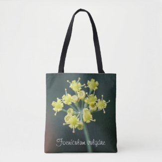 Macro Fennel Flowers Shoulder Tote