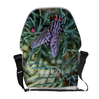 Macro Flesh Fly Rickshaw Messenger Bag