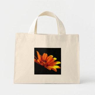 Macro floral anaranjada de la mandarina en pequeño bolsa tela pequeña