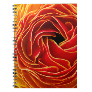 Macro flower abstract at Flower Fields Spiral Note Book