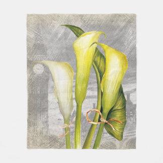 Macro flower Calla lily Fleece Blanket