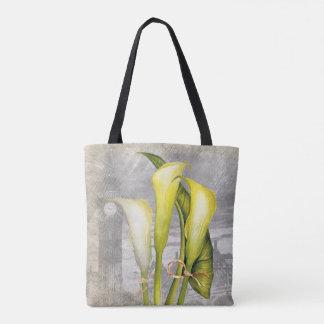 Macro flower Calla lily Tote Bag