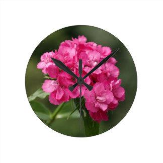Macro Flower Round Clocks