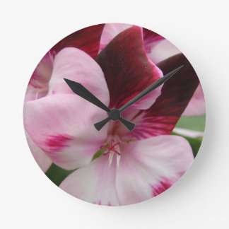 Macro Flower Round Wall Clocks