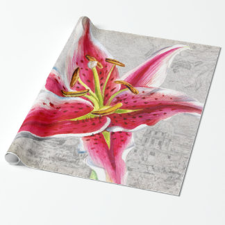 Macro Flower Lily Wrapping Paper