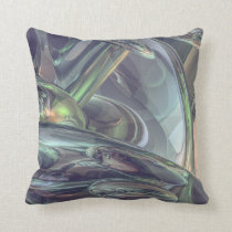 Macro Glass Reflections Throw Pillow
