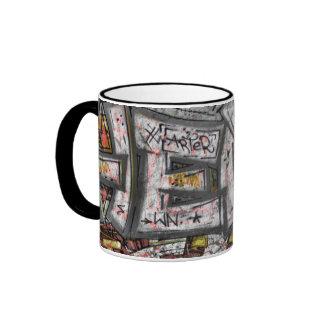 Macro graffiti ringer mug
