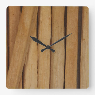 Macro image of the of MatchSticks Square Wall Clock