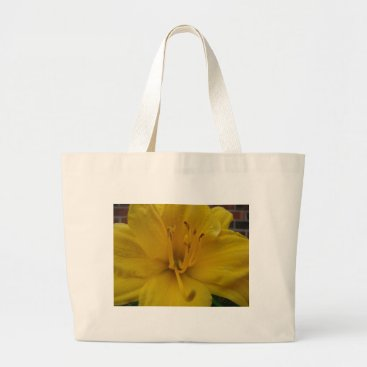 Beach Themed Macro Lily Large Tote Bag
