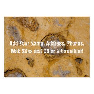 Macro mineral superficial erosionada tarjetas de visita grandes