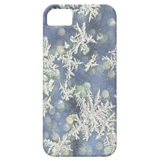 Macro Nature Photo of Frost on Blue Metal iPhone SE/5/5s Case